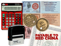 Debt Calculator & Red Ink Currency Stamper